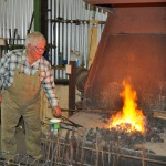 Firing up the forge fire