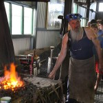 Demonstrating at the forge
